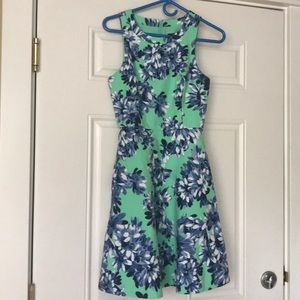 Green Floral J. Crew Dress